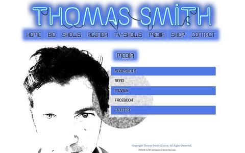Screenshot of Press Page thomassmith.be - Media | Thomas Smith - captured Feb. 16, 2016
