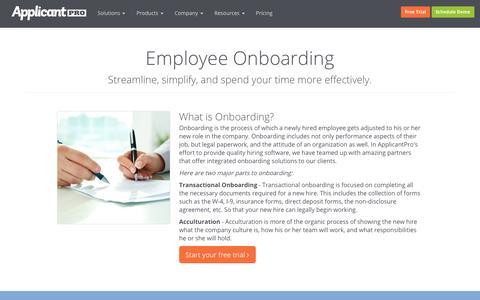 Onboarding | ApplicantPro
