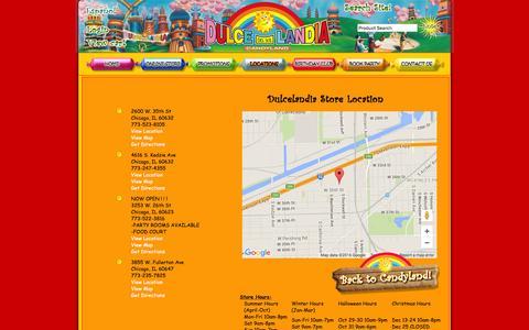 Screenshot of Locations Page dulcelandia.com - Dulce Landia | Locations | Dulcelandia - captured June 23, 2016