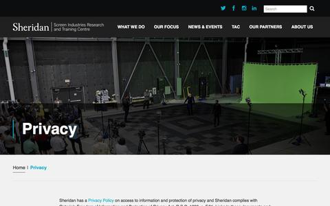 Screenshot of Privacy Page sirtcentre.com - Privacy - Sirt - captured Nov. 19, 2016