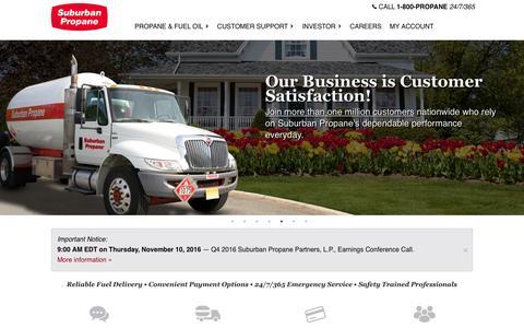 Screenshot of Home Page suburbanpropane.com - Suburban Propane - captured Nov. 12, 2016