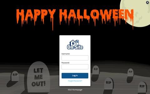 Screenshot of Login Page on-site.com - On-Site - Secure Customer Login Page - captured Oct. 29, 2015