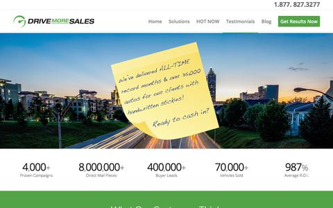 Screenshot of Testimonials Page drivemoresales.com - Testimonials | DriveMoreSales - captured Oct. 9, 2017