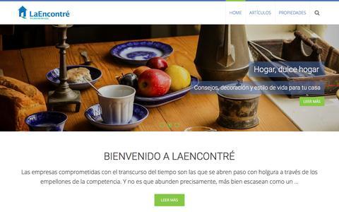 Screenshot of Blog laencontre.com.pe - Casas en venta y alquiler en Perú - LaEncontre - Otro sitio de WordPress - captured Aug. 27, 2016
