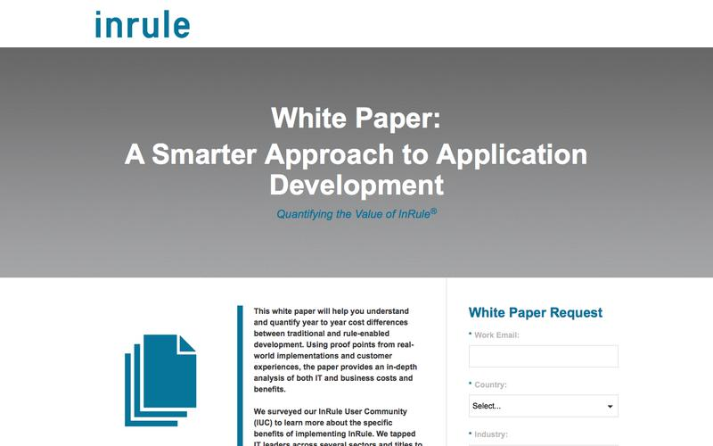 InRule White Paper - A Smarter Approach to Application Development