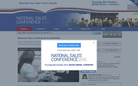 Screenshot of Home Page sales-expo.co.uk - National Sales Conference - captured Jan. 26, 2015