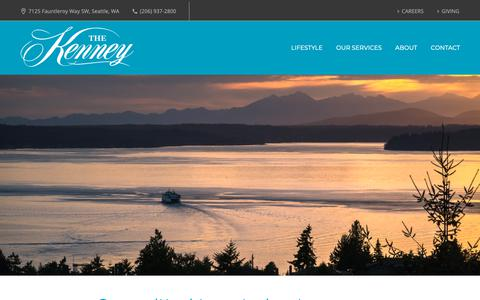 Screenshot of About Page thekenney.org - Who We Are - The Kenney - captured Oct. 20, 2018
