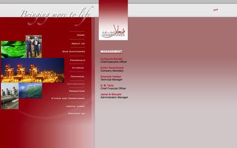 Screenshot of Team Page soharpower.com - Key Executive Officers - captured Oct. 7, 2014