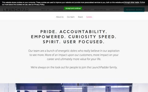 Screenshot of Jobs Page launchpadrecruits.com - We Make HR Software for Employer Branding & Talented Employee Acquisition | Careers at LaunchPad - captured Dec. 7, 2015