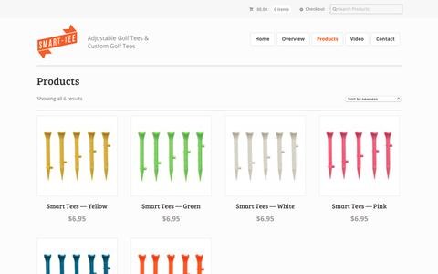 Screenshot of Products Page smartgolftee.com - Products Archive - Smart Golf Tee - captured Oct. 24, 2018