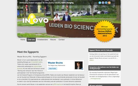 Screenshot of Team Page inovo.nl - Team - the Eggsperts | In Ovo - the Eggsperts - captured Oct. 4, 2014