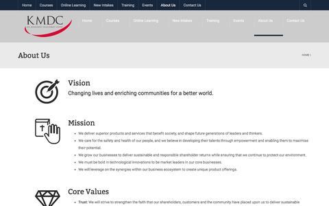 Screenshot of About Page kmdc.com.my - About Us - KDU Management Development Centre (KMDC) - captured Oct. 16, 2017