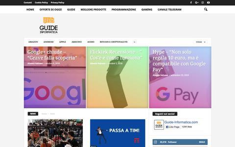 Screenshot of Press Page guide-informatica.com - News Archivi • Guide Informatica - captured Oct. 19, 2018
