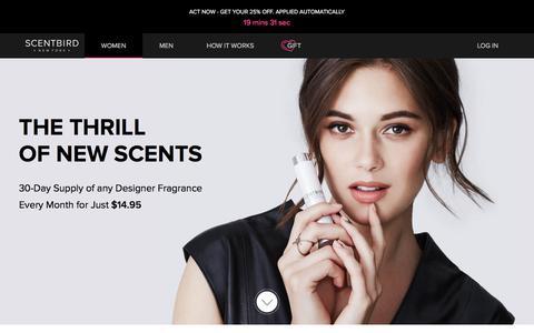 Scentbird Monthly Perfume Subscription Box: Designer Scents $14.95
