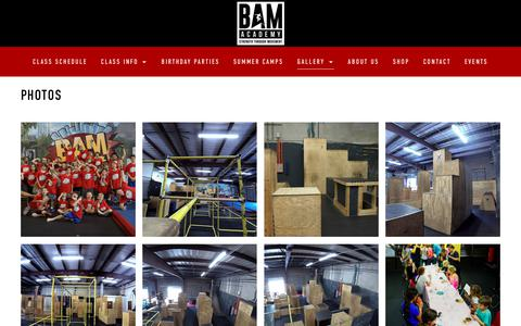 Screenshot of Press Page thebamacademy.com - The Bam Academy - captured Sept. 30, 2018