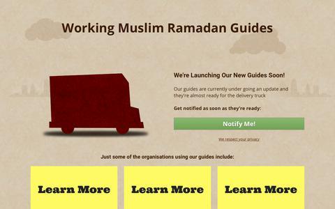 Screenshot of Home Page workingmuslim.com - Working Muslim - Ramadan Guides - captured Sept. 20, 2018