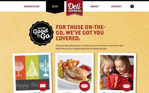 Screenshot of Blog deliexpress.com - Blog - Deli Express - captured Dec. 13, 2018