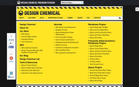 Screenshot of Site Map Page designchemical.com - Sitemap For Design Chemical - captured Sept. 18, 2014