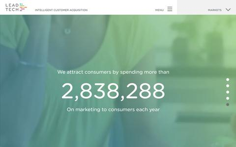 Screenshot of Home Page lead-tech.co.uk - Intelligent Customer Acquisition | Lead Tech - captured Aug. 3, 2016