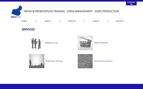 Screenshot of Services Page bigbiteprod.com - Big Bite Productions - Our Services - captured Oct. 5, 2018