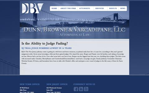 Screenshot of Press Page dbvlaw.com - River Vale, NJ Law Firm - DBV Attorneys - captured Nov. 3, 2014