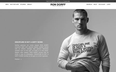 Screenshot of About Page rondorff.com - Our Philosophy – Ron Dorff - captured Nov. 16, 2018