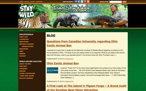 Screenshot of Blog tigerguy.com - Blog - captured Feb. 17, 2016