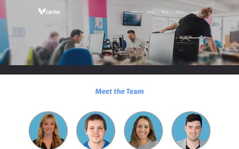 Screenshot of Team Page carmacarpool.com - Carma - Team Page - captured July 19, 2014