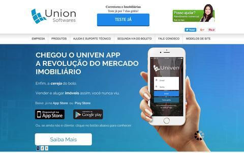 Screenshot of Home Page uso.com.br - Sistema para Imobiliária + Site para Imobiliária - captured Dec. 3, 2016