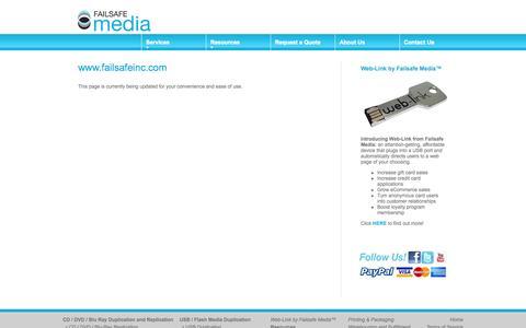 Screenshot of Site Map Page failsafeinc.com - Failsafeinc.com Site Map - captured Oct. 6, 2014