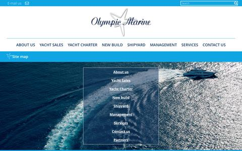 Screenshot of Site Map Page olympic-marine.com - Site map - Olympic Marine : Olympic Marine - captured June 12, 2017