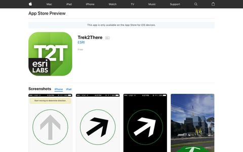 Trek2There on the AppStore