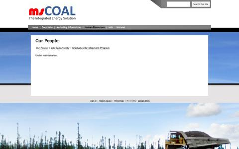 Screenshot of Team Page mscoal.com - Our People - msCOAL - captured Oct. 1, 2014