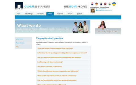 Screenshot of FAQ Page bridge-ukraine.com.ua - Frequently asked questions   Bridge Ukraine - captured Sept. 30, 2014