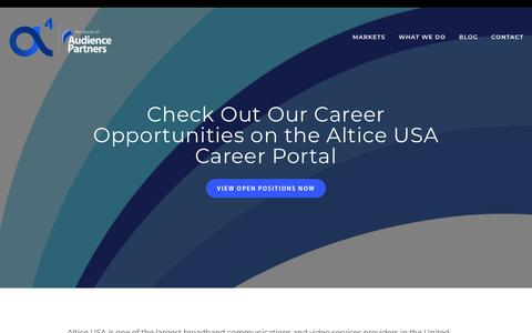 Screenshot of Jobs Page audiencepartners.com - Careers — a4 | Audience Partners - captured Feb. 28, 2019