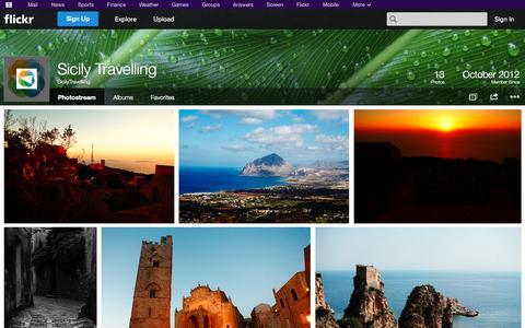 Screenshot of Flickr Page flickr.com - Flickr: SicilyTravelling's Photostream - captured Oct. 26, 2014