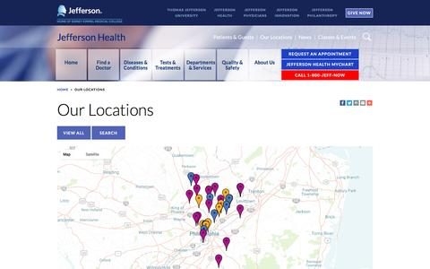 Healthcare & Medical Locations Pages | Website Inspiration
