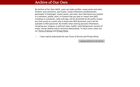 Screenshot of FAQ Page archiveofourown.org - Archive FAQs         |         Archive of Our Own - captured July 30, 2018
