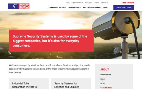 Screenshot of Case Studies Page supremealarm.com - Case Studies | Supreme Security Service - captured Oct. 18, 2018