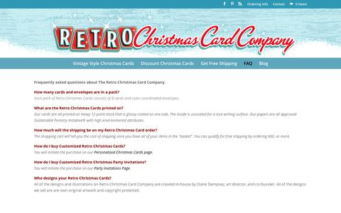 FAQ - Retro Christmas Cards