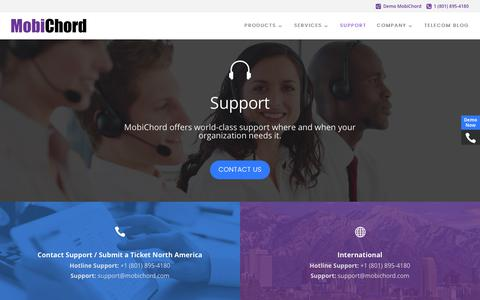 Screenshot of Support Page mobichord.com - MobiChord Support - Mobichord - captured June 12, 2017