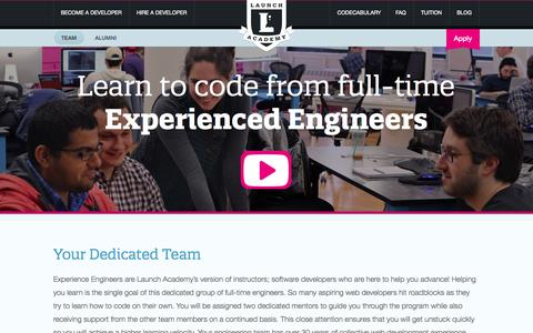 Screenshot of Team Page launchacademy.com - Improve Programming Skills from Web Developers | Launch Academy Instructors & Staff - captured Sept. 19, 2014
