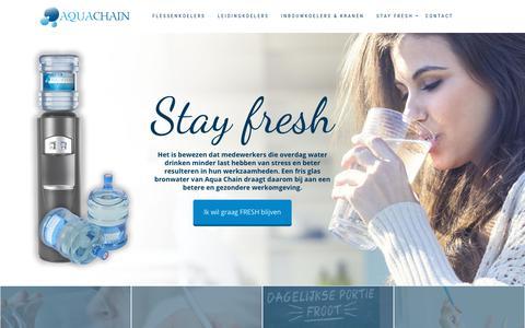 Screenshot of Home Page aquachain.nl - Startpagina | Aqua Chain waterkoelers - captured Oct. 4, 2018