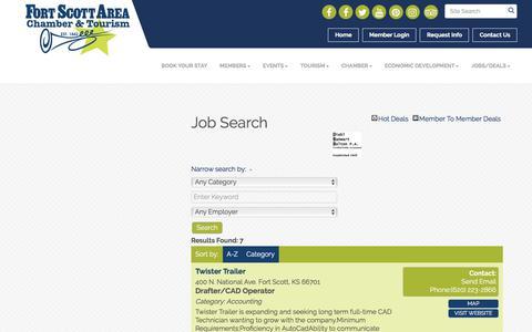 Screenshot of Jobs Page fortscott.com - Job Search - Fort Scott Area Chamber of Commerce, KS - captured Oct. 14, 2017