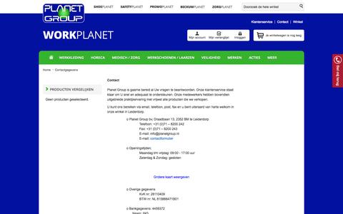 Screenshot of Contact Page workplanet.nl - Contactgegevens - Workplanet.nl - captured Oct. 8, 2014