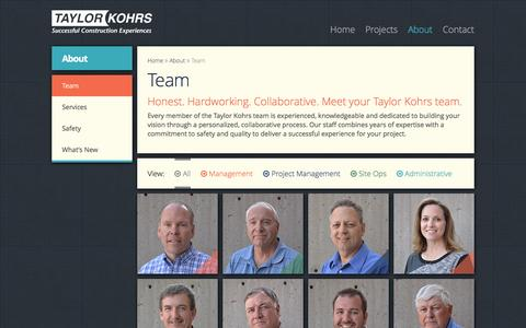 Screenshot of Team Page taylorkohrs.com - Team - Taylor Kohrs - captured Feb. 27, 2016