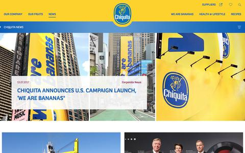 Screenshot of Press Page chiquita.com - Chiquita News | Chiquita - captured July 29, 2017