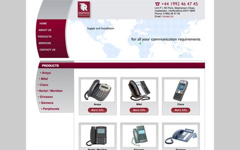 Screenshot of telefoneresources.com - Avaya, Mitel, Cisco, Nortel / Meridian, Ericsson & Siemens Phone System UK - captured Oct. 5, 2015