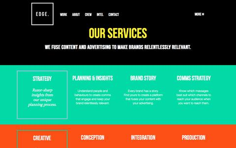 Screenshot of Services Page edge.agency - That thing we do. | EDGE - captured Dec. 21, 2017