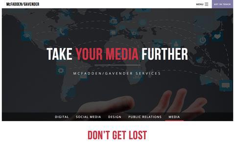 Screenshot of Press Page mcfaddengavender.com - Media - National Advertising Agency - McFadden/Gavender - captured Oct. 18, 2017